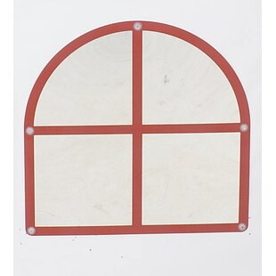 Children's Factory Arched Windowpane Accent Mirror