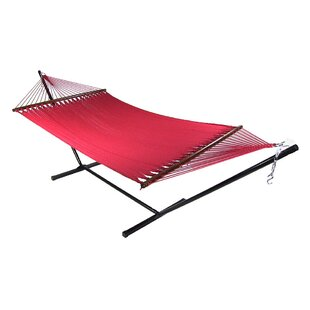 Breakwater Bay Wessels Large 2 Person Rope Hammock with Stand