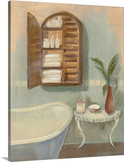 Coastal Bathtub II Giclee Stretched Canvas Artwork 30 x 30 Global Gallery Silvia Vassileva