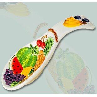 4fbc32b223bf8 Fruit Paradise Decorative Ceramic 3D Spoon Rest Trivet