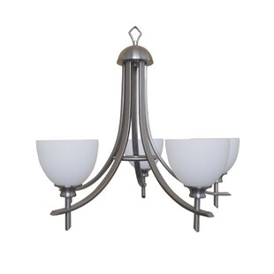 Yosemite Home Decor Sierra Point 5-Light Shaded Chandelier