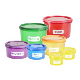 Perfect Portions 7 Container Food Storage Set