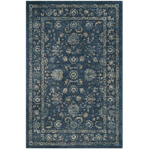 Teppich Chloe In Navyblau Beige