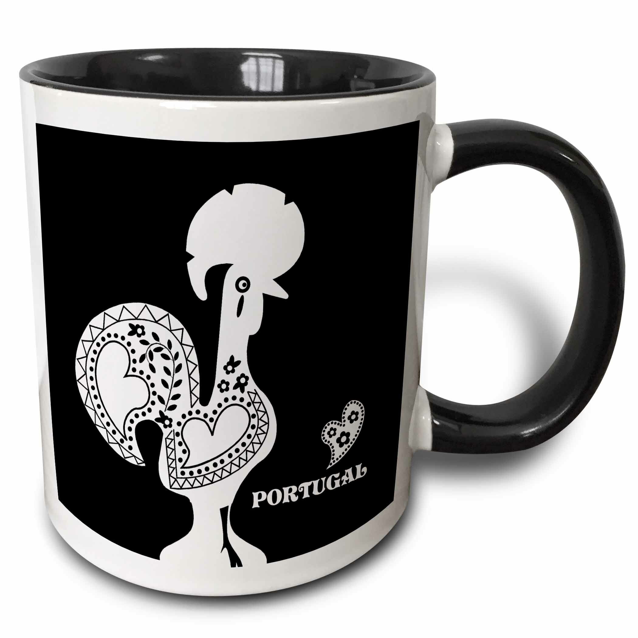 East Urban Home Portuguese Rooster With A Heart Coffee Mug Wayfair