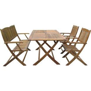 Harkless 4 Piece Dining Set by Alcott Hill