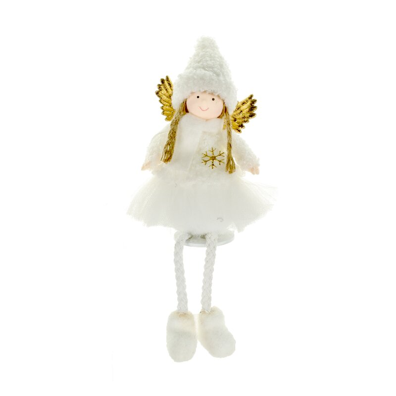 The Holiday Aisle Sitting Angel With Legs Hanging Figurine Ornament Wayfair
