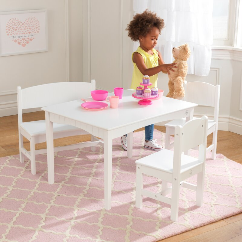 ef4dd041a1a KidKraft Nantucket Kids 4 Piece Writing Table and Chair Set ...
