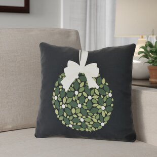 Mistletoe Me Floral Print Outdoor Throw Pillow