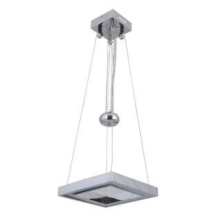 Orren Ellis Arielle Balance Square Adjustable 1-Light LED Geometric Pendant