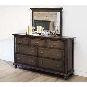 Dezirae 7 Drawer Double Dresser with Mirror by World Menagerie