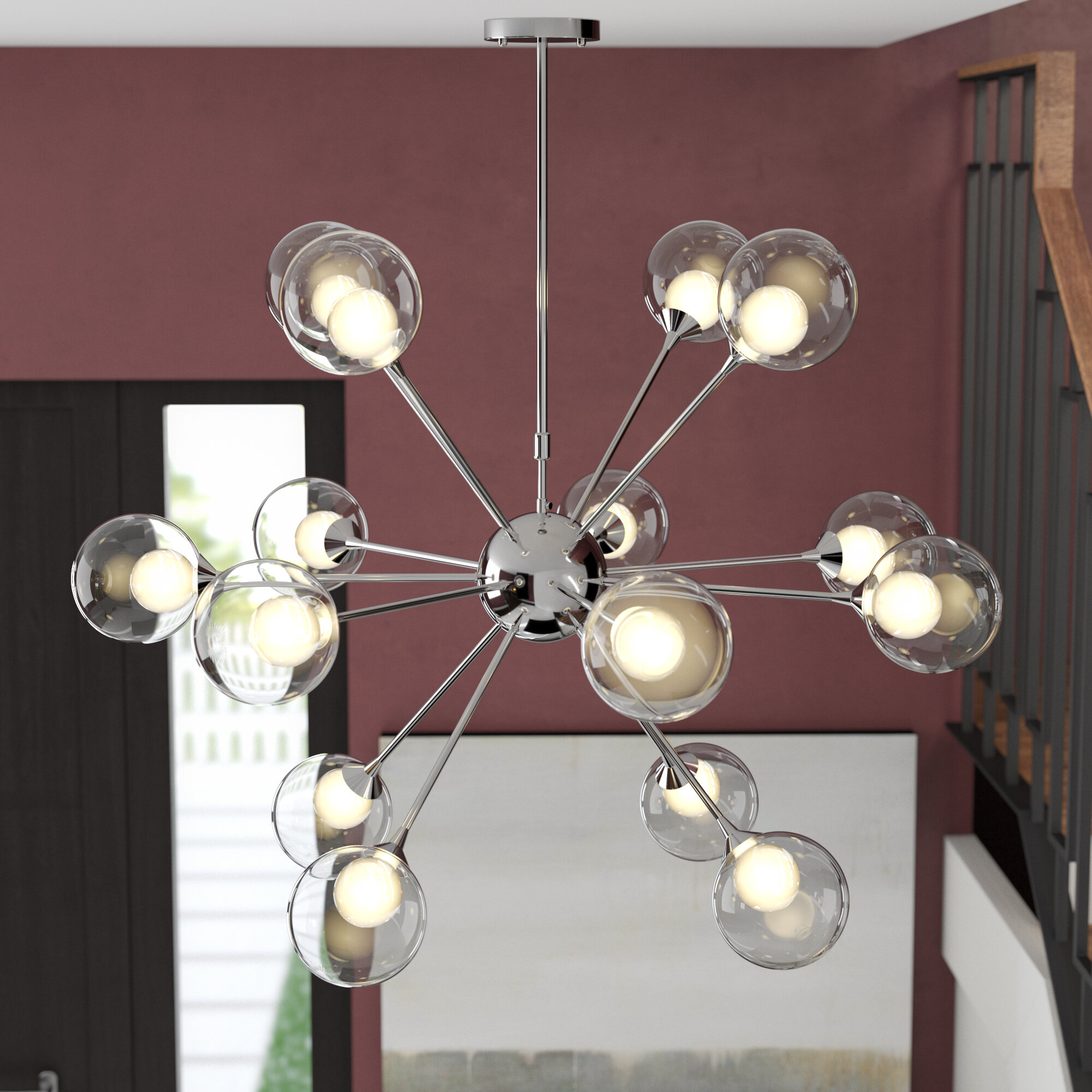 milk pdp glass lighting light osvaldo chandelier allmodern