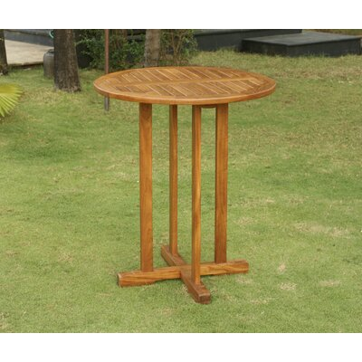 Lowery Teak Bar Table by Rosecliff Heights 2020 Online