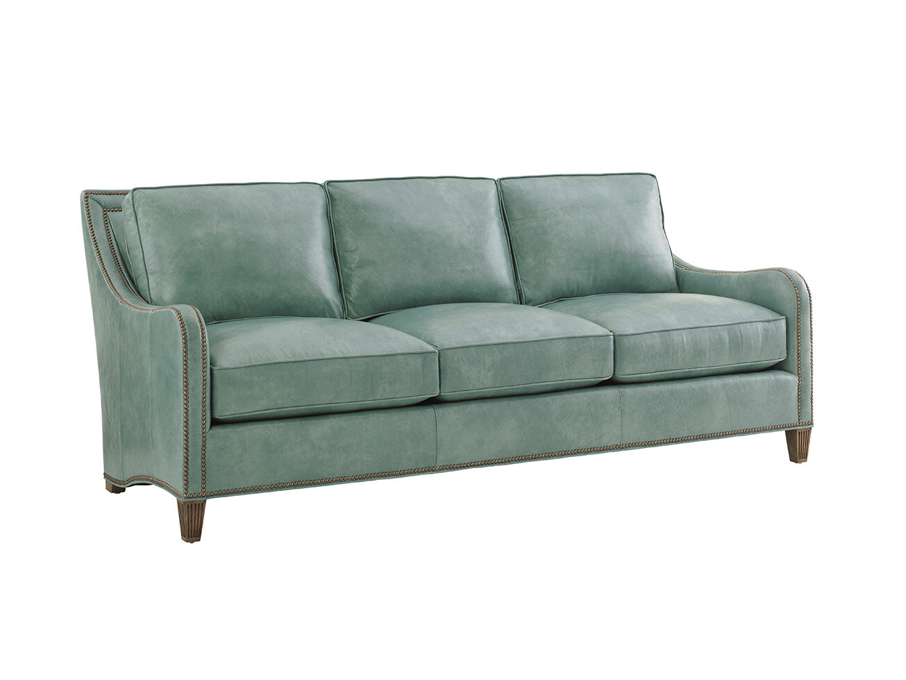 Twin Palms Leather Sofa