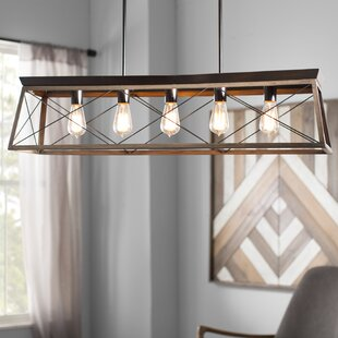 Delon 5 Light Kitchen Island Linear Pendant