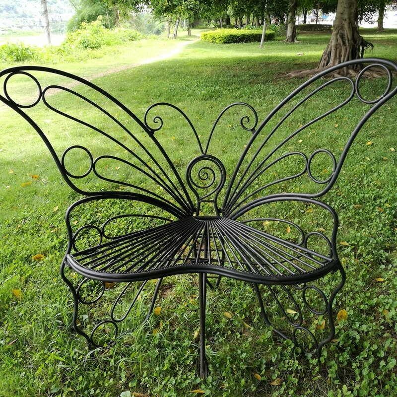 hi line gift ltd butterfly metal garden chair reviews wayfair