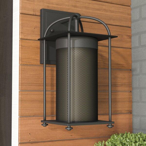 August Grove Signe Black 1 Bulb Outdoor Wall Lantern Reviews Wayfair