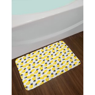 Star Pineapple Bath Rug