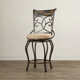Zamudio Bar & Counter Swivel Stool by World Menagerie