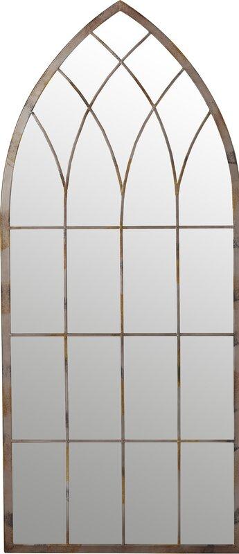 Cathedral Windowpane Style Garden Mirror & Cathedral Windowpane Style Garden Mirror \u0026 Reviews | Birch Lane