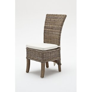 Beachcrest Home Branford Patio Dining Chair with Cushion (Set of 2)