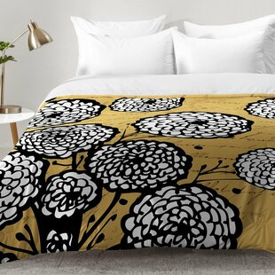 Flowery Letter Comforter Set by East Urban Home