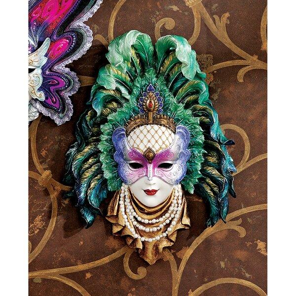 Maidens of Mardi Gras Peacock Princess Mask Wall Decor -
