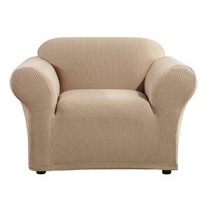 Simple Stripe Box Cushion Armchair Slipcover