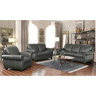 Darby Home Co Fairdale 3 Piece Leather Li..