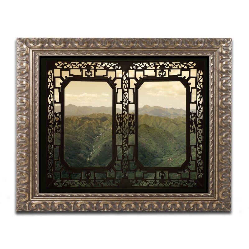 Trademark Art Window View By Philippe Hugonnard Framed Photographic Print Wayfair