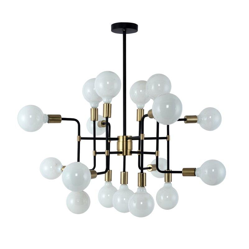 MIDCENTURY MODERN Light Fixture Alert! 17-Light Sputnik Chandelier is perfect for your dining room decor, kitchen decor, living room or bedroom.