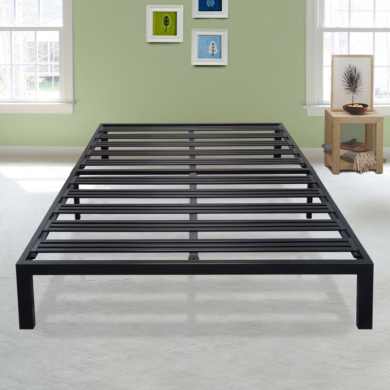 Superbe Branson Black Metal Platform Bed Frame