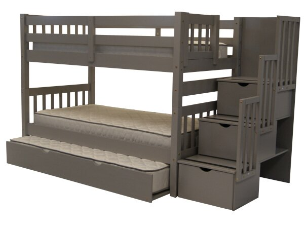 Viv + Rae Stairway Shamar Twin Over Twin Bunk Bed With Trundle U0026 Reviews |  Wayfair