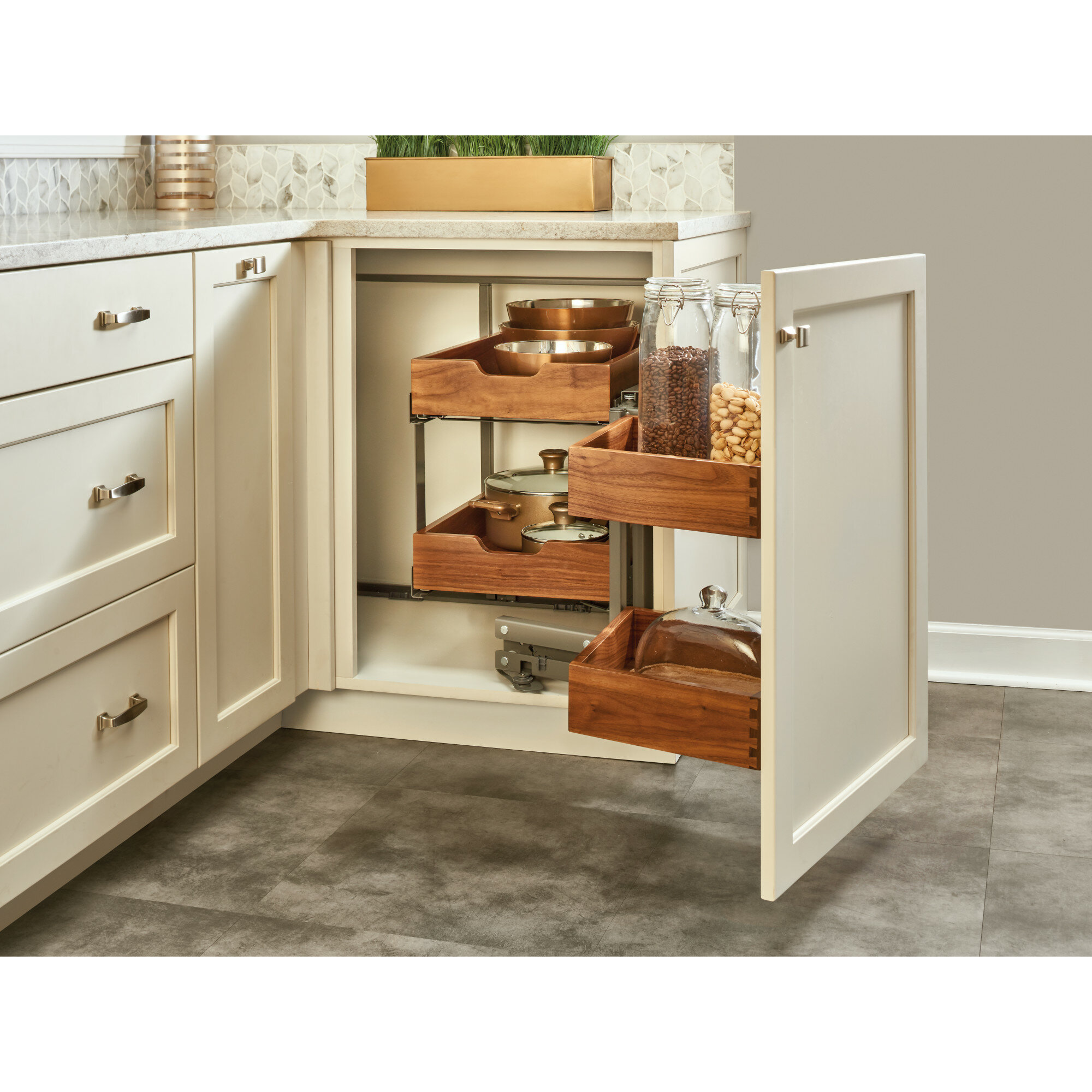Rev A Shelf Blind Corner Cabinet Organizer Wayfair