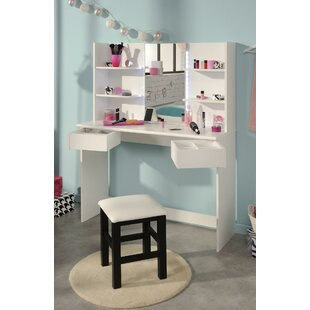 Medders Dressing Table Set With Mirror By 17 Stories