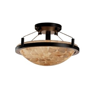 Bayou Breeze Keana Rocks Round Semi Flush Mount
