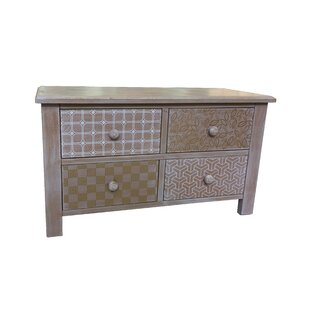 Atwell Wooden 4 Drawer Accent Chest by Bungalow Rose