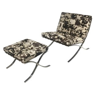 Union Rustic Throggs Lounge Chair and Ottoman