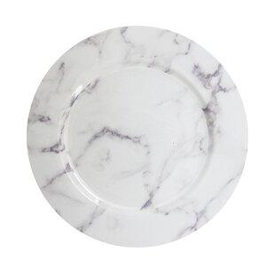 Edinger Marble 13  Melamine Charger Plate  sc 1 st  Wayfair & Tahari Melamine Plates Marble | Wayfair