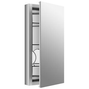 Verdera 15 x 30 Aluminum Medicine Cabinet with Adjustable Magnifying Mirror and Slow-Close Door by Kohler