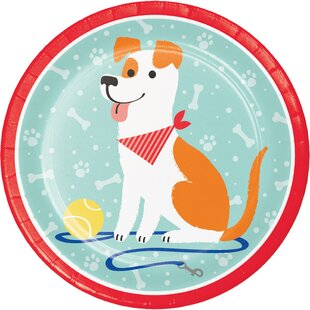 Dog Party Paper Dessert Plate (Set of 24)