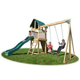 YardCraft Backyard Hideout Play Swing Set