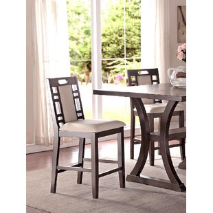 Nika Counter Height Dining Chair (Set of 2) Winston Porter
