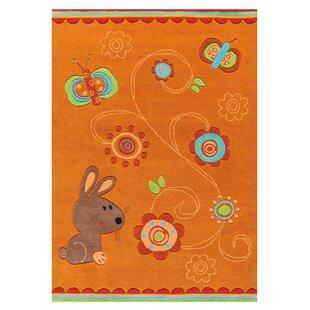 Sam Hand Tufted Orange Rug by Arte Espina