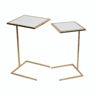 Best Poole 2 Piece Iron End Table Set by Mercer41