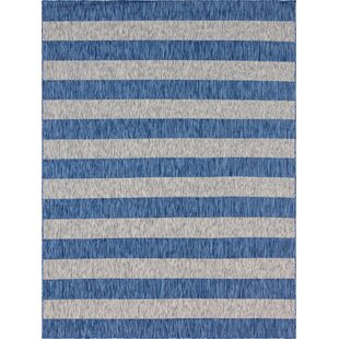 Hooks Blue/Gray Indoor/Outdoor Area Rug