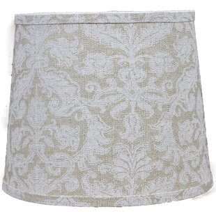 Damask Flax 12 Linen Drum Lamp Shade