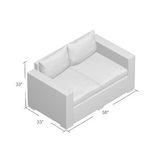 Wrought Studio Aramingo Deep Seating Loveseat with Cushions