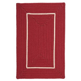 Maven Border in Border Braided Red Indoor/Outdoor Area Rug