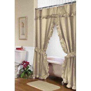Compare Parish Double Swag Shower Curtain ByAstoria Grand