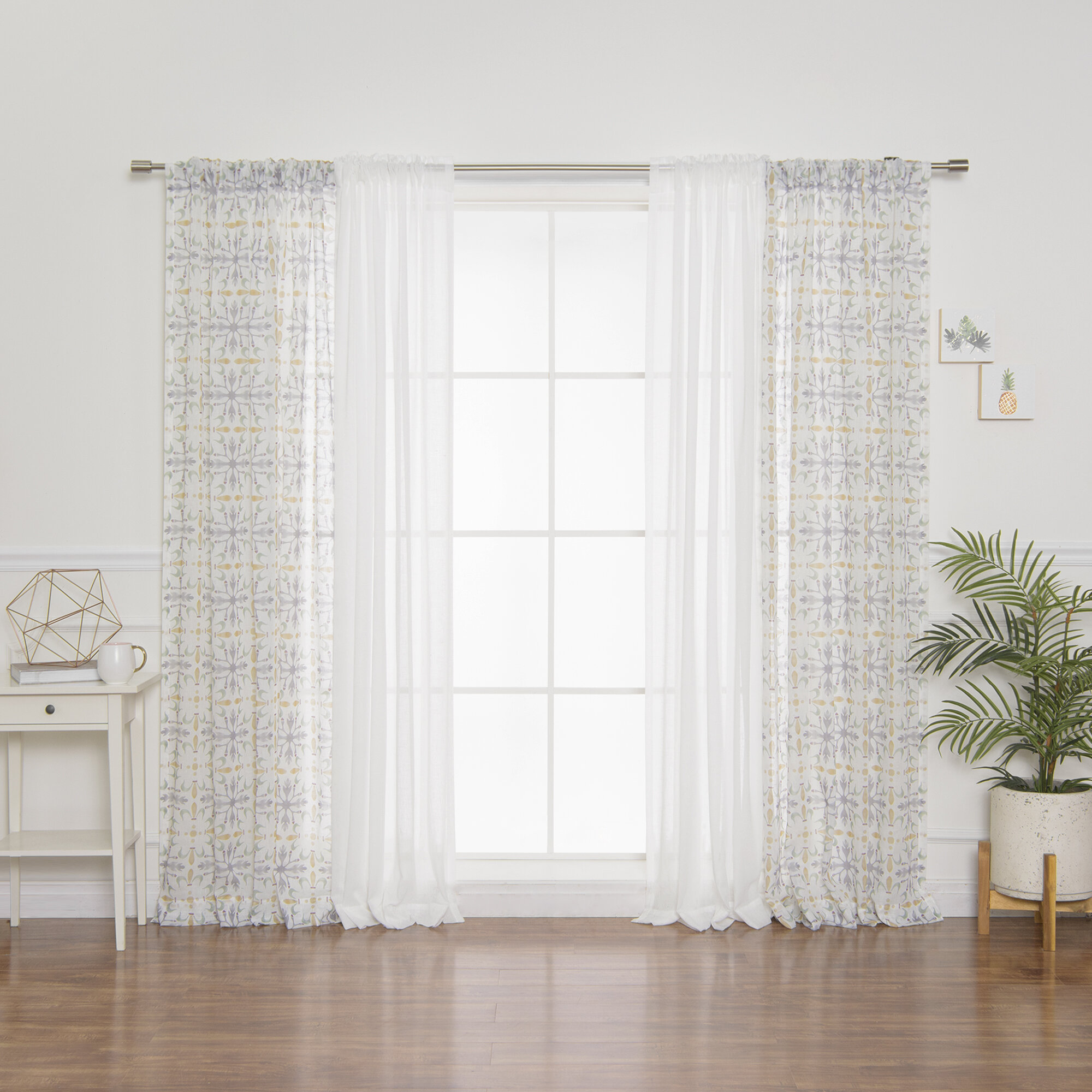 Best Home Fashion, Inc Mix And Match Solid Semi Sheer Rod
